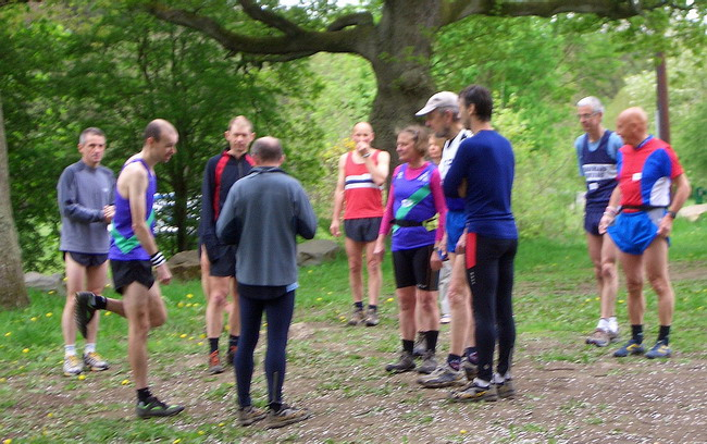 small but friendly gathering for the first in the series race  - photo: courtesy of Philip Sanderson