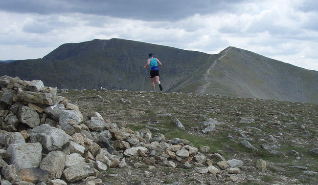one last climb to Helvellyn  - photo: Rob